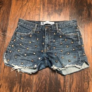 Studded cut off jeans